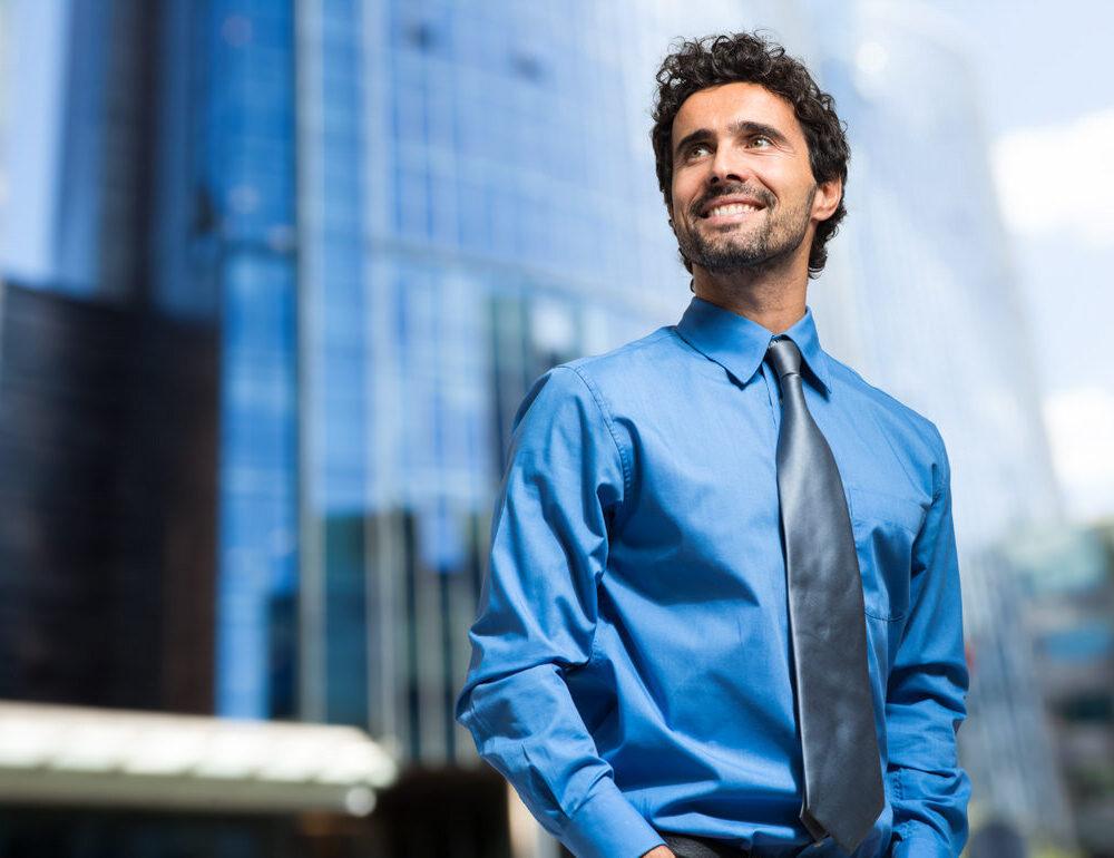 Handsome,Businessman,Portrait,Outdoor